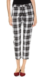 Myne Bowie Midrise Trousers Black White Plaid
