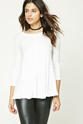 Forever 21 Ribbed Knit Trapeze Top