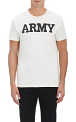 Nlst Men's Army Jersey T Shirt White