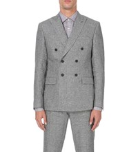 Reiss Luxor Slim Fit Linen Blazer Grey