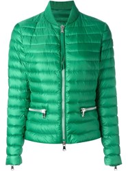 Moncler Shawl Collar Puffer Jacket Green