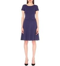 Armani Collezioni A Line Stretch Jersey Dress Purple