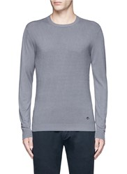 Armani Collezioni Diamond Motif Sweater Grey