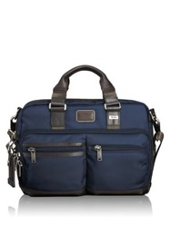 Tumi Alpha Bravo Andersen Slim Commuter Brief Case Navy Black
