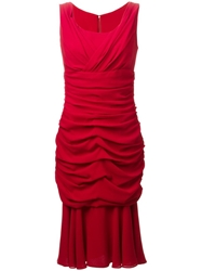 Dolce And Gabbana Ruched Dress Red