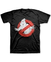 Jem Men's Ghostbusters Graphic Print T Shirt Black