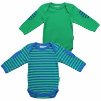 Toby Tiger Green Stripe Baby T Shirt 2 Pack