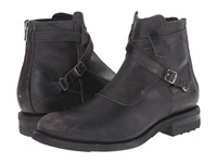 Frye Stone Cross Strap Black Polished Stonewash Men's Pull On Boots