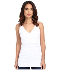 Susana Monaco Wrap Tank Top Sugar 1 Women's Sleeveless White
