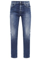 7 For All Mankind Josefina Relaxed Fit Jeans Blue Denim