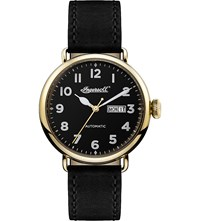 Ingersoll Trenton I03401 Gold Plated Stainelss Steel And Leather Watch