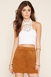 Forever 21 Crochet Paneled Crop Top