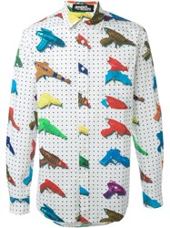 Jeremy Scott Water Gun Print Shirt White