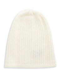 Lord And Taylor Knit Cashmere Slouchy Hat Ivory