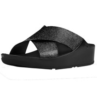 Fitflop Crystall Cross Strap Sandals Black