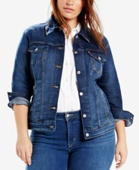 Levi's Plus Size Trucker Denim Jacket Blue Flight