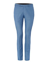 Label Lab Terrell Textured Suit Trouser Blue