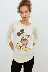 Junk Food Mickey Mouse Raglan Tee Ivory