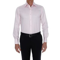 Bruce Field Men's Shirt Slim Fit Striped High Double Button Collar