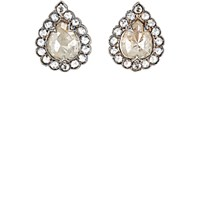 Cathy Waterman Women's Mixed Diamond Teardrop Stud Earrings No Color