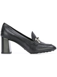 Tod's 'Double T' Buckle Pumps Black