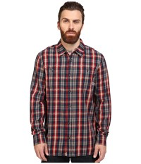 Vans Canehill Long Sleeve Flannel Red Dahlia Dress Blues Men's Clothing Brown