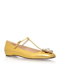 Gucci Lexi T Bar Pumps Female Gold