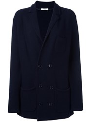 Paolo Pecora Double Breasted Cardigan Blue