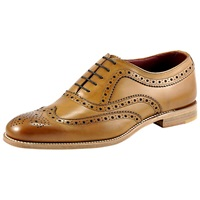 Loake Fearnley Brogue Oxford Shoes Tan