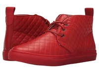 Del Toro Quilted Leather Chukka Sneaker Red Men's Shoes