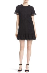Kate Spade Women's New York Mixed Lace Drop Waist Shift Dress