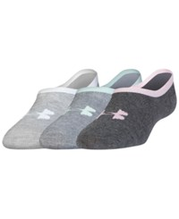 Under Armour Women's Lo Lo Extra Low Liner Socks 3 Pk. Heather Grey Assorted