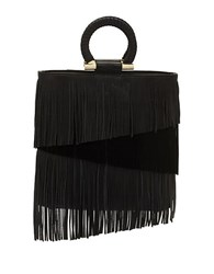 Sam Edelman Rachel Leather And Suede Tote Black