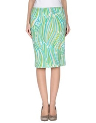 Kiltie Knee Length Skirts Green