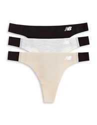 New Balance 3 Pack Bond Thong Set Black Concrete