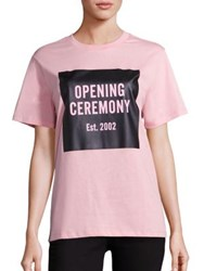 Opening Ceremony Cotton Graphic Tee Wine Pink