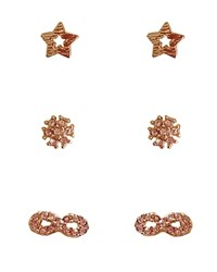 Cara Accessories Stud Earrings Set Of 3 Pairs Compare At 25 Gold Crystal