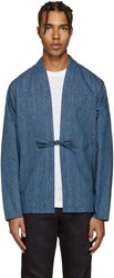 Naked And Famous Denim Indigo Kimono Shirt