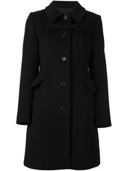 Boutique Moschino Front Bow Fitted Coat Black