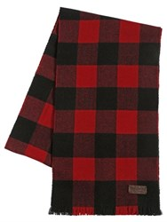 Dsquared Check Wool Flannel Scarf