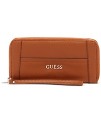 Guess Delaney Large Zip Around Wallet Cognac