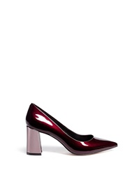 Pedder Red 'Charlie' Contrast Heel Patent Leather Pumps Red