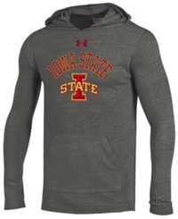 Under Armour Men's Iowa State Cyclones Triblend Hooded Long Sleeve T Shirt Heather Gray