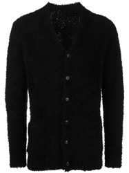Attachment Textured Long Sleeve Cardigan Black