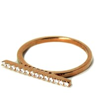Hysteric Co. Pave Bar Ring Rose Gold