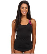 Tyr Cadet 2 In 1 Tankini Black Pink Women's Swimwear