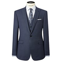 Richard James Mayfair Birdseye Wool Slim Fit Suit Jacket Blue