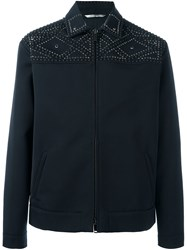 Valentino Studded Field Jacket Blue