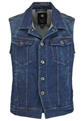 G Star Gstar 3301 Dnm Jkt S Less Waistcoat Neutro Stretch Denim Blue Denim