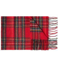 Gloverall Lambswool Tartan Scarf Red
